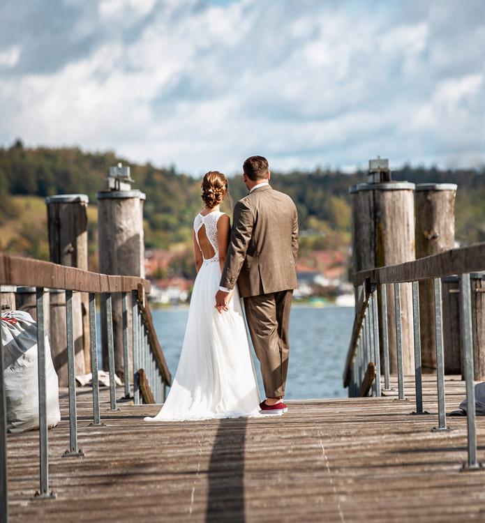 Hochzeitsfotos Konstanz - Fotoshooting am Wasser