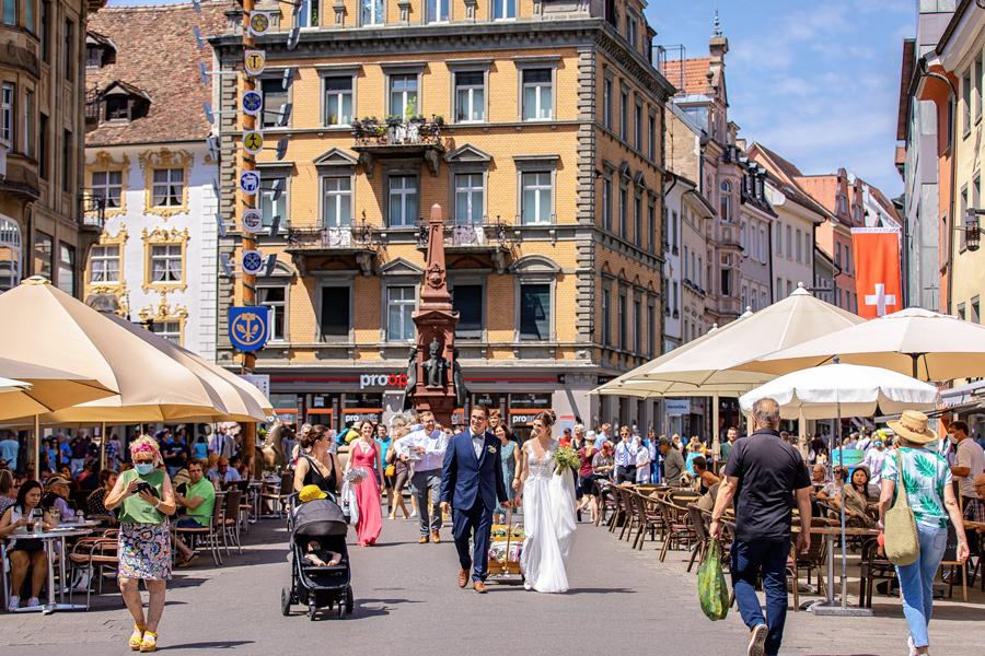 Fotograf Konstanz Hochzeit - Hochzeitsfoto Marktstätte Konstanz